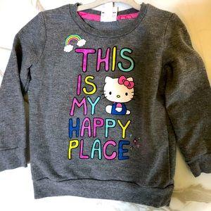 Hello Kitty Girls 3T Grey Sweatshirt